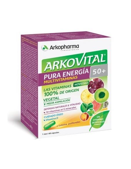 Arkovital Pura Energia 50+ 60 Cápsulas