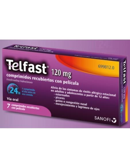Telfast 120 mg 7 Comprimidos Con Pelicula