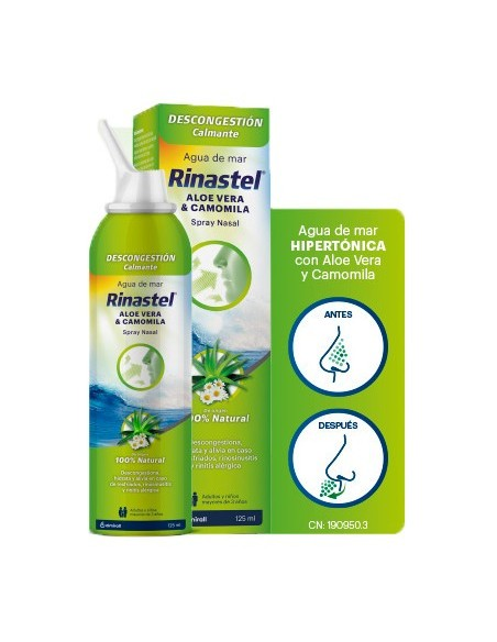 Rinastel Aloe Vera y Camomila Spray Nasal 125 ml