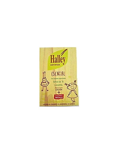 Halley Antipiox Esencial Champú 100 ml+Locuón 100 ml+Lendrera+Gorro