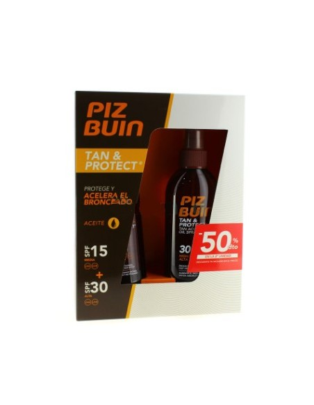 Piz Buin Tan And Protect Aceite Spray Acelerador Del Bronceado SPF15 150ml+SPF30  150ml