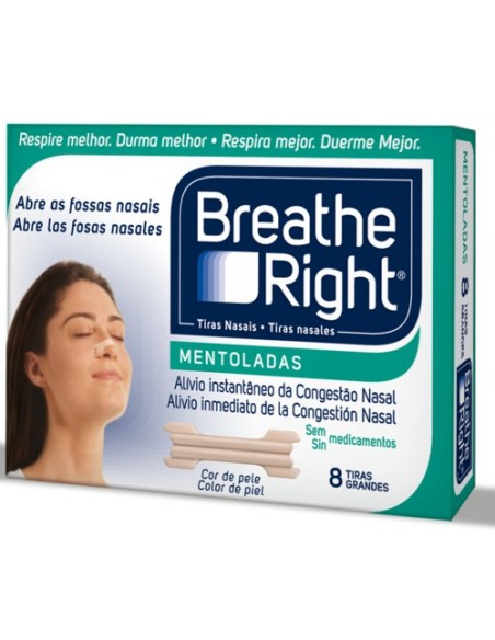 Breathe Right mentoladas 8 tiras
