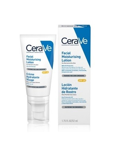 CeraVe Loción Hidratante Rostro Spf25 52 ml