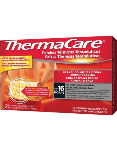 THERMACARE PARCHES TERMICOS ZONA LUMBAR 2 UDS